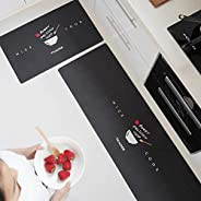 Non-slip Water Absorption Kitchen Mats, Long Oil Absorption Kitchen Floor Rugs Rubber Backing Doormat Washable