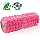 Tencoz Rullo Muscolare, Foam Roller Rullo di Schiuma Profonda Tessuto Massaggio Muscolare per Recupero Muscolare, Stretching, Yoga, Pilates - 34 x 14cm