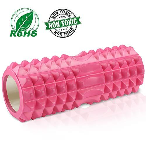 Tencoz Schaumstoffrolle, Massagerolle für Schmerzlinderung Fitness Foam Roller Rücken und Bein Muskel Rolle Schaumstoffrollen für Muskeln - Länge 33 * 14CM