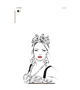 EPICCASE Lovely Lady with Crown Mobile Back Case Cover For Apple Ipad 6 (Designer Case)