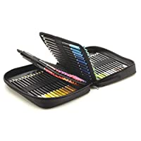Castle Art Supplies 72 Coloured Pencils Zip-Up Set - Easy Zipper Case to Store and Protect Your Colouring Pencils