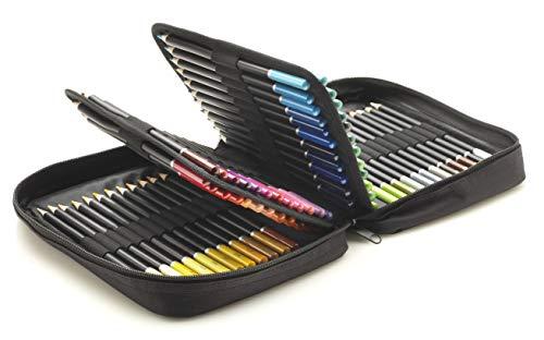 Castle Art Supplies - Set di 72 matite colorate con cerniera lampo, custodia facile per conservare e proteggere le matite colorate