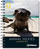 Animal Selfies - Buchkalender Delux 2019 - Kalenderbuch A5 - Taschenkalender - teNeues-Verlag - National Geografic - Taschenplaner mit Spiralbindung und farbigen Abbildungen - 16,5 cm x 21,6 cm