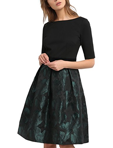 APART Fashion Damen Kleid 53039, Grün (Smaragd), 34 (Grün Partykleid Smaragd)
