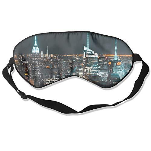 100% Silk Sleep Mask Eye Mask New York City Soft Eyeshade Blindfold With Adjustable Strap For Men Women And Kids For Sleeping Travel Work Naps Blocks Light E10