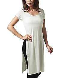 Urban Classics Ladies Side Slit Viscose Long Tee, T-Shirt Femme
