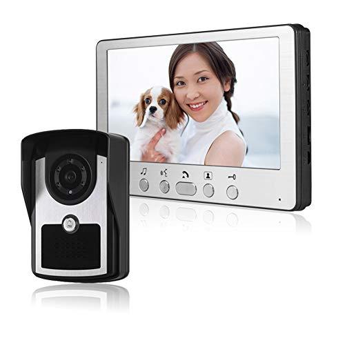 QLPP 7 Zoll Wired Video Door Phone Doorbell Intercom Entry System mit 700TVL Camera Night Vision Support Monitoring-Schloss für die Sicherheit zu Hause (Hause-surveillance-system Sicherheit Zu)