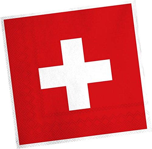 20 Servietten * SCHWEIZ * für Party und Geburtstag von DH-Konzept // Swiss Switzerland Alpen Party Set Napkins Papierservietten