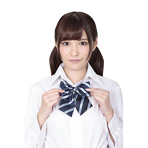 A&Tcollection Japanese High School Girl Uniform Kawai School Ribbon Blue Stripe