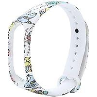 Liqiqi para Xiao Mi Band 3 Correas de Repuesto de Silicona Suave Correa de Reloj Impermeable patrón de Dibujos Animados Pulsera para Xiao Mi Band 3 Smart Watch