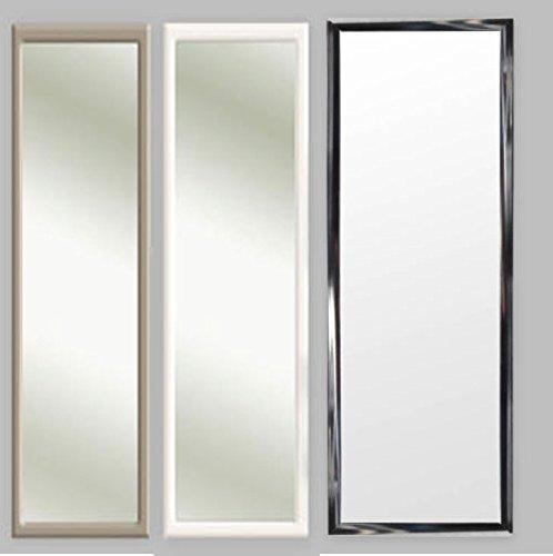 3 Farben Türspiegel Tür Spiegel Hängespiegel Rahmenspiegel 35x95cm schwarz weiss (silber) (Tür Spiegel)