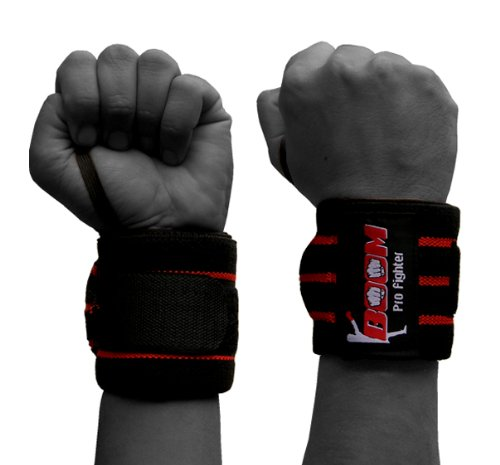 BOOM PRO Weight Lifting Wrist Support, Bodybuilding, Fitness und Bewegung (FREE SHIPPING)