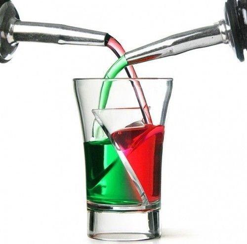 2 Kammern Twister Shot Gläser 5 Stück