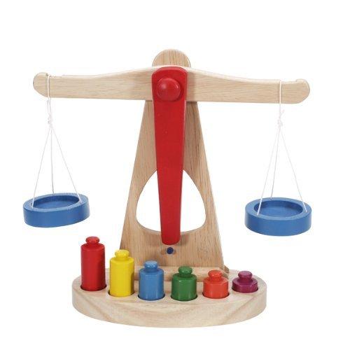 Kinder Spielzeug Waagschale w / Holz Gewichte Waagschale