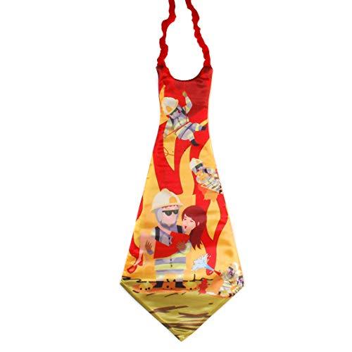 Udo Schmidt Riesen-Krawatte Feuerwehr, ca. 90 cm