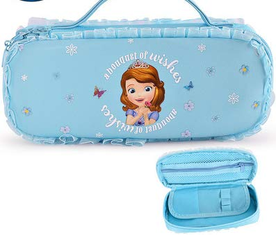 Bolsa de la Pluma de la niña Princesa Sofía Caja de papelería de Lona Multifuncional