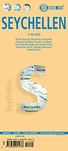 Preisvergleich Produktbild Seychellen: 1:50 000. Einzelkarten: Vaches, Denis, Arid, Fregate 1:25 000, Mahe, Silhouette, Praislin, La Digue, Marianne, Desroches, North 1:50 000, ... Amirantes, Farquhar 1:2 500 000 (Borch Maps)