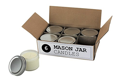 Bulk Mini Mason Jar Kerzen-4Unze-Perfekt für Hochzeiten, Restaurants, Geschenke, Baby Duschen, 6
