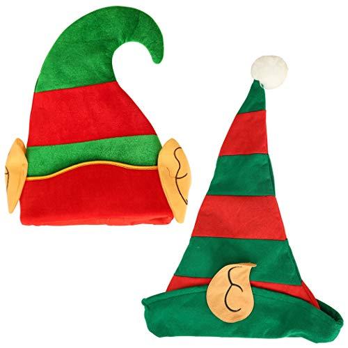 2 STÜCKE Weihnachten Hut Mode Niedlichen Elf Stil Kostüm Hut Party Hut für Kinder Erwachsene -Für Weihnachtsstimmung