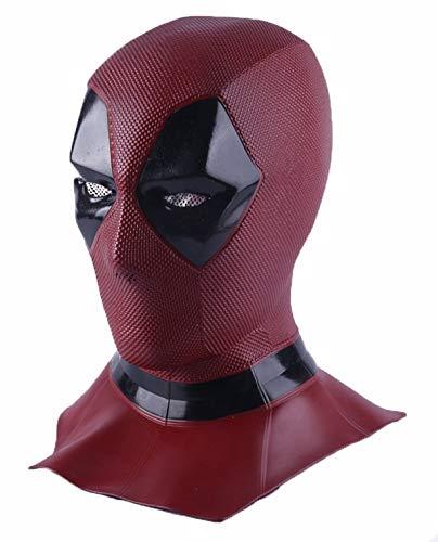 Hpparty Deadpool Maske Cosplay Wunder & Deadpool Kostüm, Deadpool Movie Style Cosplay Maske für Kostüm (Long DP) (Deadpool Kostüm Maske)
