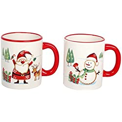 Papá Noel Navidad Set de 2 Tazas