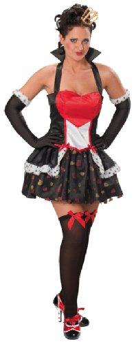 Kostüm Figur Sexy - Rubie's Karneval Damen Kostüm Herzkönigin als sexy Märchen Figur Größe 36