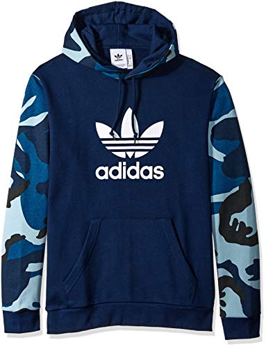 Adidas Herren Kapuzenpullover Originals Camo Over The Head - Blau - X-Groß