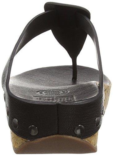 FitFlop Damen Ibiza Cork Sandalen Black (Black 001)