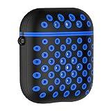 Etui de Protection Silicone Avec trou Antichoc Anti-perte Anti-rayures Protecteur pour Apple AirPods 1th 2th Coque Ecouteur Casque Oreillette cas Boîte de Recharge de Sport En plein air (E, libre)