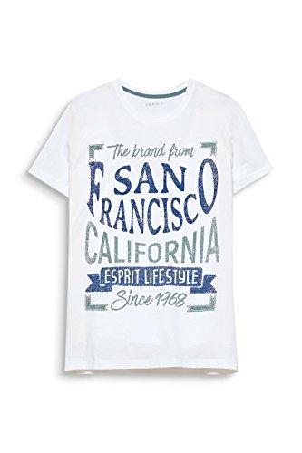 ESPRIT Herren T-Shirt Weiß (Off White 110)