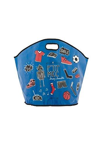 Derrière la porte DLP: Gran bolsa organizador de juguetes pequeño Mec azul