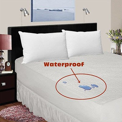 Aaf Textiles Terry Waterproof Mattress Protector Non crinky Bunk Bed Extra Deep 22-35cm Anti Allergy Anti Dust Mite