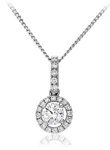 0.40 ct G/VS2 Certified Diamond Pendant - 18CT WHITE GOLD