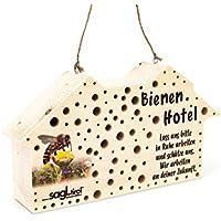 Sagl.tirol Casetta per insetti per api selvatiche in legno di cembro, hotel di api selvatiche come aiuto per il nido con oltre 100 fori in 3/4/5/6/8/10 mm di diametro