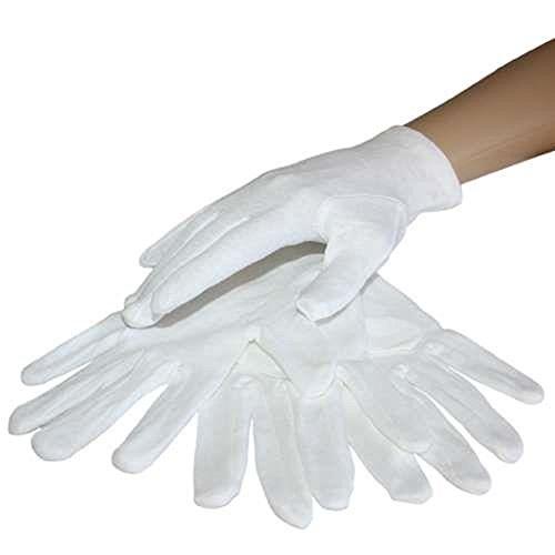 Kostüm Stick Usb Port Und - Handschuhe Baumwolle Gr. 9 - Stoffhandschuhe Handschuhe Baumwollhandschuhe Zwirnhandschuhe