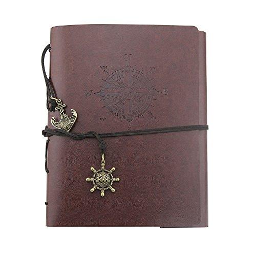 Album Hand Scrapbook DIY Album Jahrgang PU Leder Leder Foto Album Paar Erinnerungsalbum Das kreative Geschenkbuch der Kinder 60 Seiten 30 * 22cm/11.81 * 8.66
