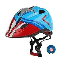 خوذة دراجة أطفال Atphety ، معتمدة من CPSC ، خوذة أمان متعددة الرياضات قابلة للتعديل مع ضوء LED لدراجات التزلج سكوتر رولر (القائد)