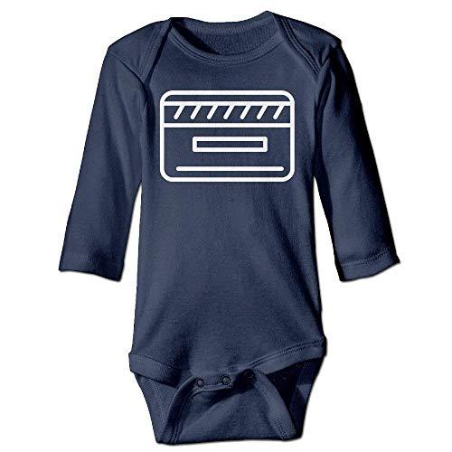 VTXWL Unisex Infant Bodysuits Credit Card Sign Boys Babysuit Long Sleeve Jumpsuit Sunsuit Outfit Navy