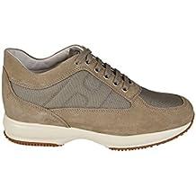 Hogan Sneaker Interactive in camoscio HXM00N00E10B2A9997 Beige Uomo cfa9a03ec51