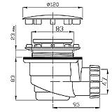 Duschwannensifon Duschwannenablauf 90mm, Deckel in Chrom Vergleich