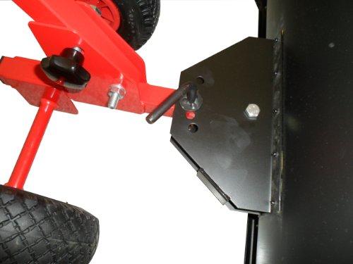 Schneeschieber - Einachser auf Rädern / Rot / Schneeschild aus hochwertigem Stahl mit Pulverbeschichtung 1,5 cm stark, 75 cm Arbeitsbreite