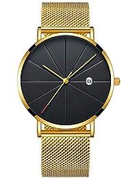 7502676f1c5b DAYLIN Relojes de Hombre Mujer Deportivos Reloj Pulsera de Cuarzo Analogico Reloj  Caballero Negocios Calendario Joya Regalos Wrist Watch…