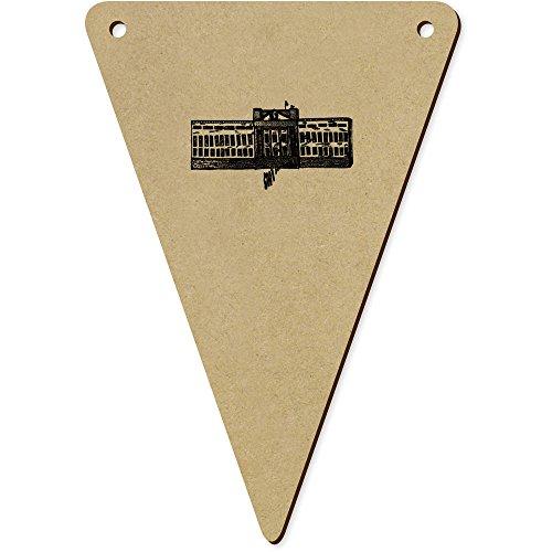 Azeeda 5 x 140mm 'Buckingham Palace' Wimpel / Banner aus Holz (BN00019501) -