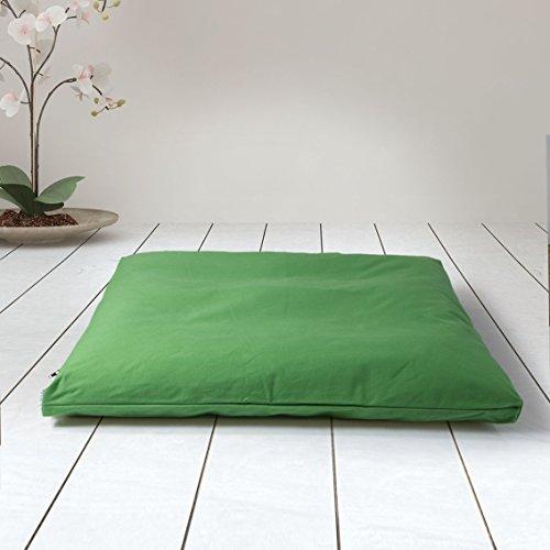 ZAFUKI Estera de meditación/Zabutón/Relleno Fibra de algodón 100{6f6d32c466bffd2976da71123aa6f072765a75480e509f79fc51f68e8bc48627} Reciclado/Base para Cojín de meditación/colchoneta meditación y Yoga / 75x65 cm (Verde Amazonas)