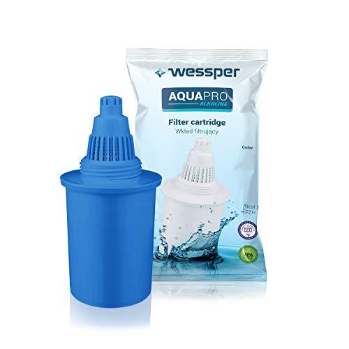 Wessper® cartucce filtranti per acqua alcalina/ionizzatore compatibile con wessper, phox, kinetic water, oxa, buko brocca di acqua – blu