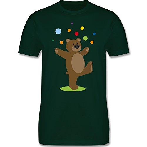 Sonstige Tiere - Kinder-Motiv Bär - Herren Premium T-Shirt Dunkelgrün
