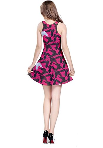 CowCow - Robe - Femme Gray Crows Hot Pink Crows