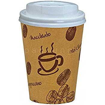 50 Stk. Kaffeebecher Premium Coffee to go mit Deckel