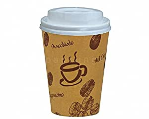 1000 Stk. Kaffeebecher Premium Coffee to go mit Deckel, Pappe beschichtet 300 ml