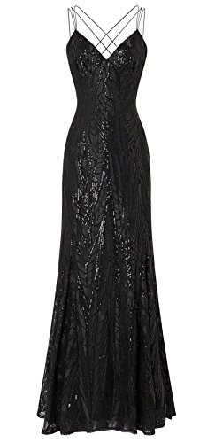 Caia Black Maxi Sequin Dress
